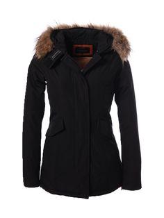 Parka winterjas voor dames zwart Fortesoro