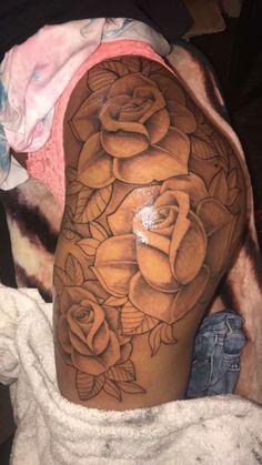 33 Bad-Ass Thigh Tattoo Ideas for Women Look Naughty and Sexy - Life Hack Rn Tattoo, Tiger Tattoo, Symbol Tattoos, Hand Tattoos, Tattoo Photo, Tattoo Band, Blue Tattoo, Dope Tattoos, Dream Tattoos