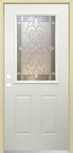 mastercraft sr656 steel halflite prehung exterior door at menards