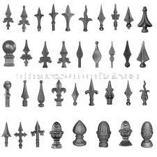 Ornamental Iron Fence Finials,Cast Iron Spearhead,Lanceted Cast ...