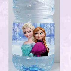 étiquettes bouteilles Reine des neiges1
