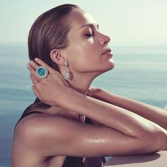 Petra Nemcova Shows Off the new Chopard Haute Joaillerie Collection High Jewelry, Luxury Jewelry, Jewellery, Unique Wedding Bands, Wedding Jewelry, Petra Nemcova, Unusual Engagement Rings, Chopard, Best Diamond