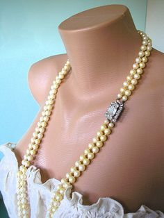 Great Gatsby Jewelry Wedding Jewelry by CrystalPearlJewelry, $74.00