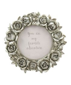 Look what I found on #zulily! Small Round Silver Rose Resin Frame #zulilyfinds