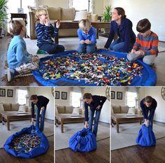 Draagbaar speelkleed #opruimen #lego #lauraskadoshop