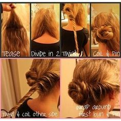 My hair is done like this right now. Super easy
