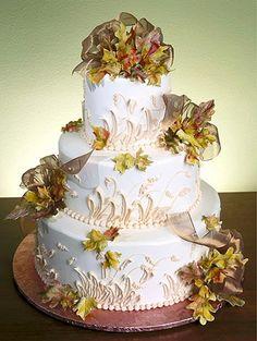 ☆ Wedding cake ☆ nice for fall wedding