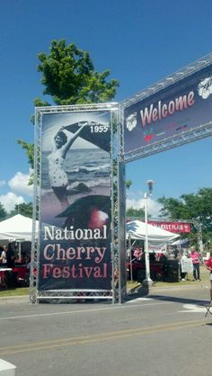 Traverse City's National Cherry Festival in July.