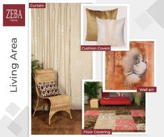 Dress your Living Room with Zeba Curtains, Carpet, Cushions & Wall Art for a co-ordinated look. Co-ordinated – Cozy – Beautiful – ZEBA  #cushioncovers #carpets #wallart #curtains #customizedlook #Home #HomeDecor #Interior