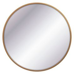 Round Decorative Wall Mirror Black - Threshold™ Designed With Studio McGee : Target Metal Mirror, Round Wall Mirror, Wall Mounted Mirror, Round Mirrors, Window Mirror, Wood Wall Shelf, Wood Floating Shelves, Mirrors, Homes