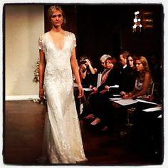 perfect for a rustic wedding #jennypackham #bridalmarket #weddingdress #weddinggown
