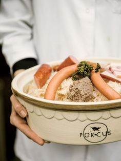 Choucroute garnie, the house specialty at Porcus | Alsace, France
