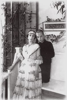 Former ballerina Matilda Kschessinskaya with her son Vladimir, whose paternity has never been found out with certainty - in any case he was a Romanov by blood, his father being either...