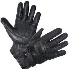 Xelement XG452 Black soft Leather Nylon Riding Gloves waterproof liner