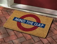Mind the Gap Doormat in Spring 2013 from BBC America Shop on shop.CatalogSpree.com, my personal digital mall.