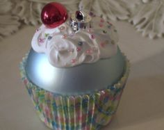 Cupcake christmas ornament christmas time