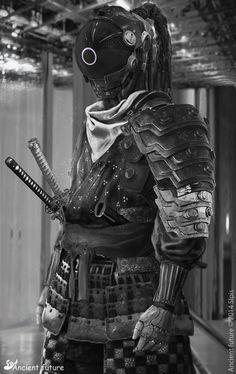 S - Lpis Cyberpunk Samurai Arte Ninja, Arte Robot, Ninja Art, Arte Cyberpunk, Cyberpunk 2077, Armor Concept, Concept Art, Medieval Combat, Character Inspiration