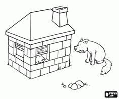The Wolf And Brick House Coloring Page