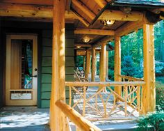 White Pine de-barked trees for support columns - Adirondack Style Lakes Region NH