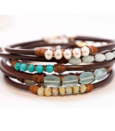 Beaded leather cord