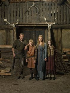 Ragnar's family: Ragnar, Bjorn, Lagertha and Gyda