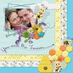 https://flic.kr/p/23YS2se | Scrapbookcrazy Creations by Robyn - Bee My Honey | Layouts created with the Bee My Honey digital scrapbooking page kit by Scrapbookcrazy Creations by Robyn. Available at Go Digital Scrapbooking and on sale for a limited time!