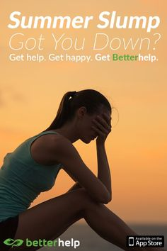 Don't let summertime sadness happen to you. Make a change in your life this summer and download BetterHelp –an online counseling service that gives you affordable and efficient counseling. Receive professional counseling using your computer, tablet or mobile phone - Anytime, anywhere. Keep a sunny summer perspective and start your free trial today.