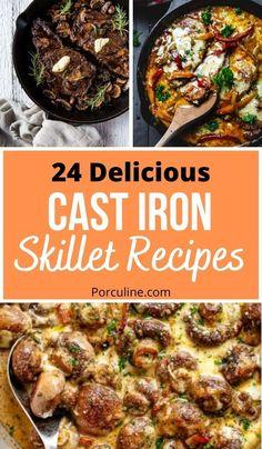 Cast Iron Skillet Cooking, Best Cast Iron Skillet, Iron Skillet Recipes, Cast Iron Recipes, Skillet Dinners, Grill Recipes, Cooking Recipes, Iron Diet, Cast Iron Dutch Oven