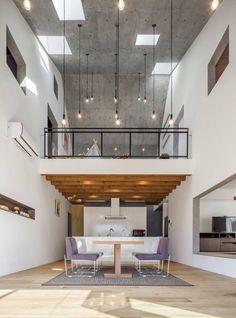 salones modernos con doble altura - Buscar con Google