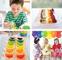 gorgeous rainbow themed childrens birthday party by OHbaby! magazine - great party food and drinks