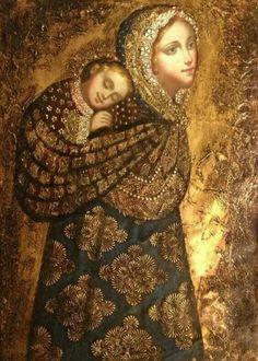 Andes Virgin & Child Artist: Artemio Coanqui
