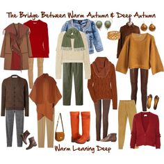 """The Bridge Between Warm Autumn & Deep Autumn"" by jeaninebyers on Polyvore"