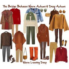 """The Bridge Between Warm Autumn & Deep Autumn"" by jeaninebyers on Polyvore"