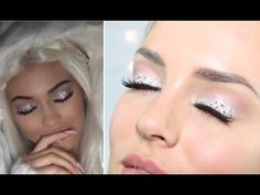Make-Up: Kylie Jenner 'Snow Angel' Halloween Crystal Eye Makeup - YouTube tutorial by Chloe Morelo