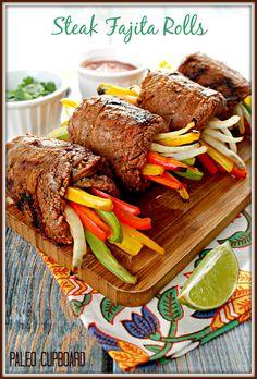 Paleo Steak Fajita Roll Recipe - www.PaleoCupboard.com