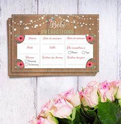 Bleu Note de la Bosse Personnalisé Bébé Imprimé Bunting Rose baby shower