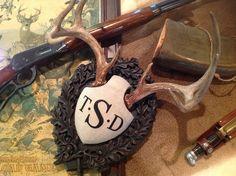 Monogram Legacy Antler Panel for Axis, Whitetail, Fallow and similar sized trophies. Deer Skulls, Deer Antlers, Mountain Cabin Decor, Antler Mount, Deer Mounts, Deer Decor, Oh Deer, Black Forest, Rustic Design