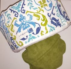 Cat bed, dog bed, Pet bed, contemporary, turquoise, blue, green, paisley pattern by MoonLightHappy on Etsy