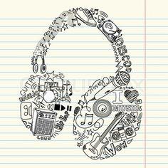 Headphone music doodle
