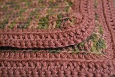 SOLD***$19.00***Handmade Dusty Pink and Green Knit Baby Blanket***https://www.etsy.com/listing/168318993/handmade-dusty-pink-and-green-knit-baby?