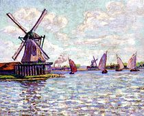 Armand Guillaumin Windmills in Holland - French Impressionist Oil Painting Renoir, Monet, French Impressionist Painters, Impressionist Paintings, Oil Paintings, Nature Paintings, Windmill Art, Holland Windmills, Georges Seurat