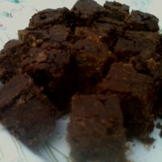Black and garbanzo bean gluten free brownies sweetened with xylitol! Delicious!