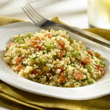 The star of this light, fresh salad is GOYA® Quinoa!  A small seed from the Andes with big nutritional benefits.  This delicious salad is gluten free too!