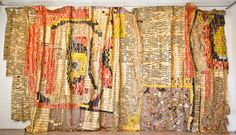 Hanging out the trash: 'Earth's Skin' (2008) by El Anatsui is a large undulating 'garbage tapestry' made from waste copper and aluminium. | COURTESY OF THE MUSEUM OF MODERN ART, HAYAMA
