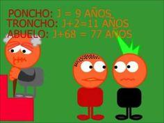 Las aventuras de Troncho y Poncho. Expresiones algebraicas