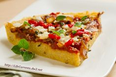 Polenta Pizza by Life Currents, a fun new twist on deep dish pizza for ...