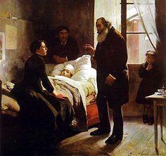 """""""El niño enfermo"""" de Arturo Michelena (1863- 1898)."""