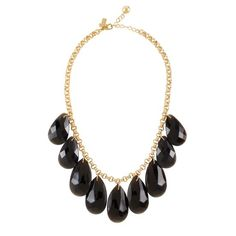 I love Kate Spade. I also love, LOVE, that big costume jewelry is in this season.
