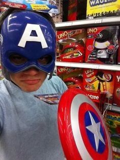 Atticus Dean Mitchell + captain America XD