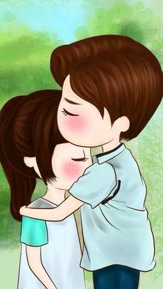 When I'm sad 😞 Love Cartoon Couple, Cute Love Cartoons, Cute Couple Art, Anime Love Couple, Cute Anime Couples, Cute Love Pictures, Cute Cartoon Pictures, Cute Love Gif, Cute Images